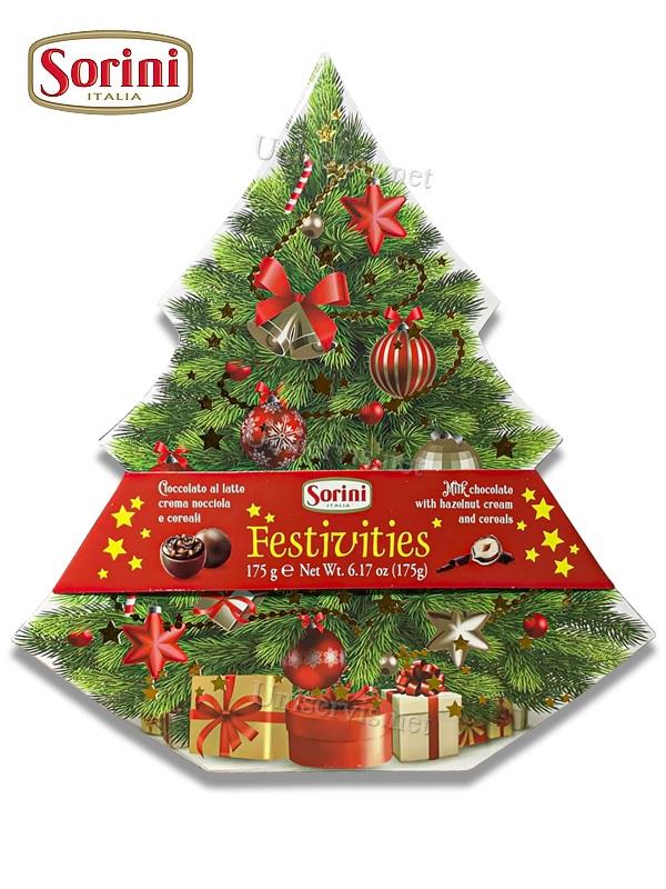 Итальянские конфеты из шоколада с начинкой Сорини/Sorini (Новогодняя Ёлка )